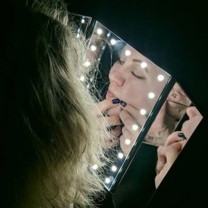 Other - Makeup Vanity Mirror Trifold beauty with Led Light